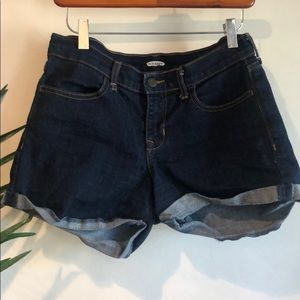 Old navy dark blue denim shorts